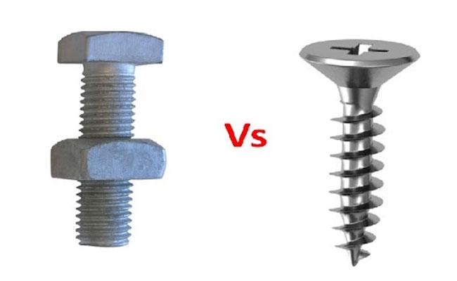 sự khác nhau giữa bu lông và ốc vít