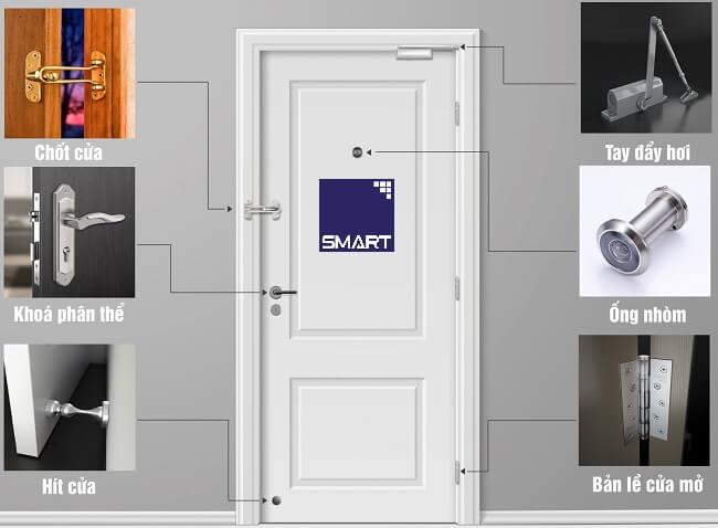 ứng dụng bu lông lắp cửa